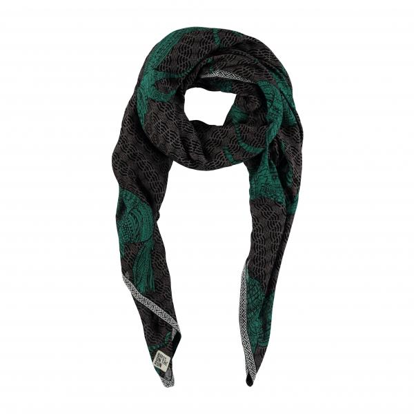 1080Scarf_Woven_Printed_horse_dk__teal