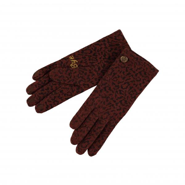 1104Gloves_Knitted_printed_touchsreem_Cognac