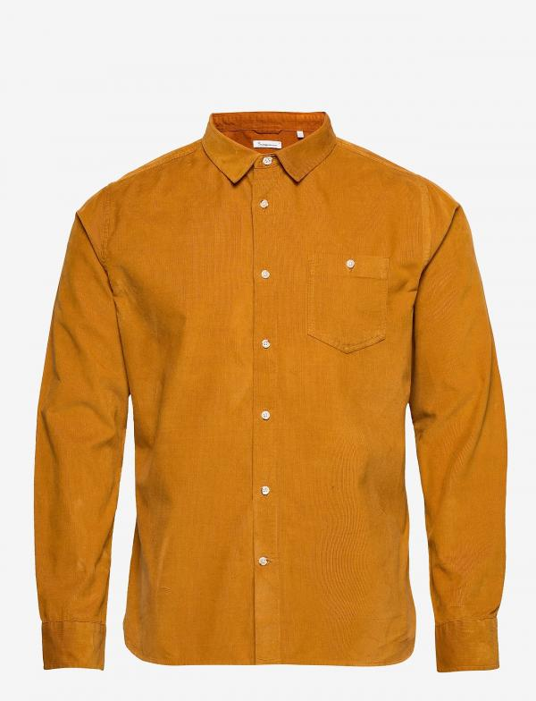 Knowledge_Elder_Regular_Fit_Baby_Cord_Shirt_buckhorn_brown