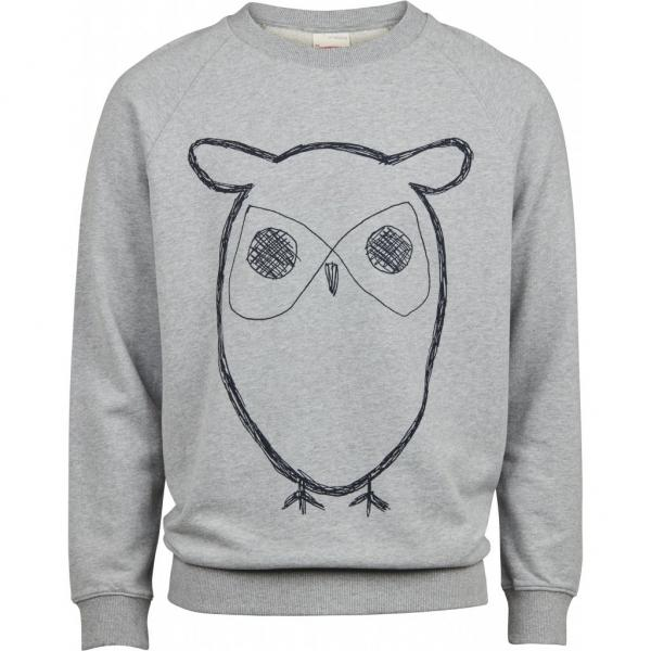 Knowledge_Elm_Big_Owl_Sweat_grey_melange