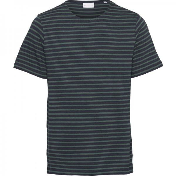 Knowledge_cotton_apparel_Alder_striped_tee_pineneedle_1294