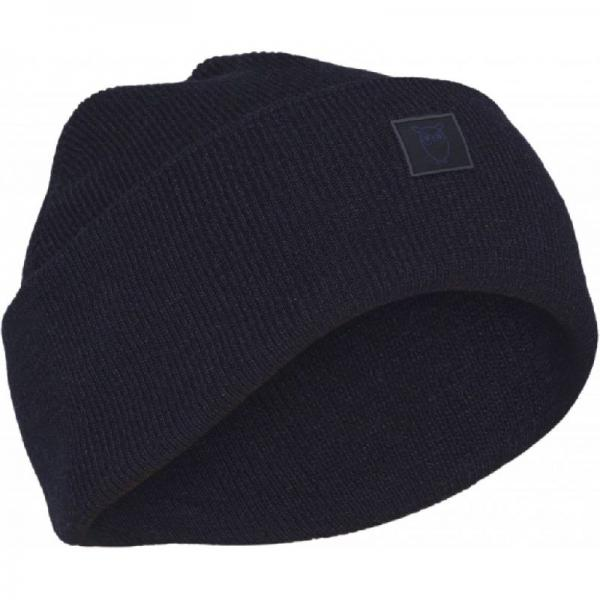 Knowledge_cotton_apparel_Leaf_organic_wool_beanie_moonlite_ocean