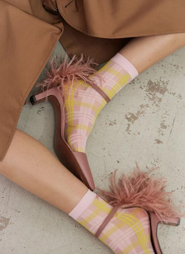 Swedish_Stockings_Greta_Tartan_sock_light_pink_neon_yellow