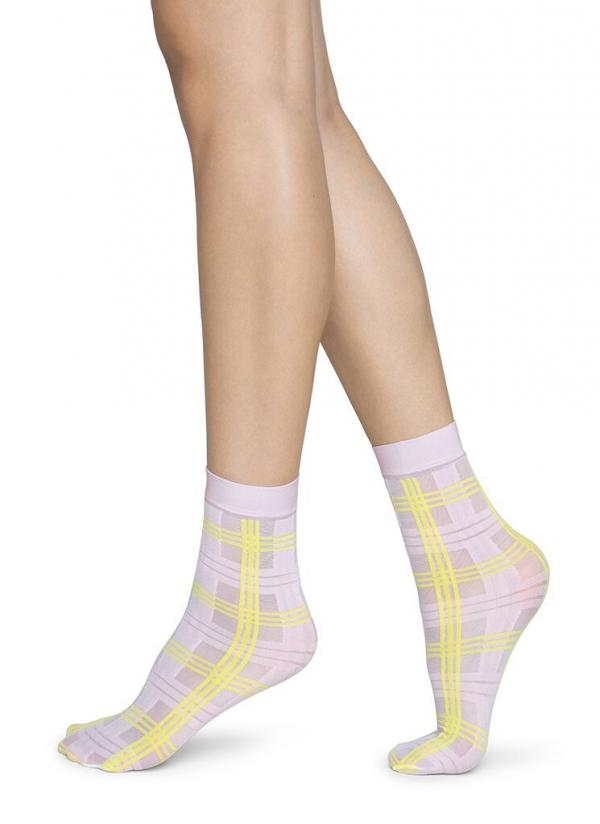Swedish_Stockings_Greta_Tartan_sock_light_pink_neon_yellow_1